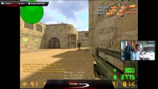 n0thing cs 1.6 famas/knife ace + shirt removal (funny)