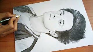 Aksh baghla  singer  |  pencil  drawing