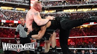 Roman Reigns vs. Brock Lesnar - WWE World Heavyweight Championship Match: WrestleMania 31 width=