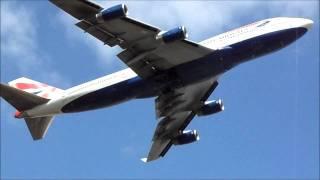 Heathrow Planespotting Departures 09R [HD]