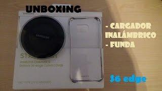 Unboxing cargador inalámbrico & funda clear cover S6 edge