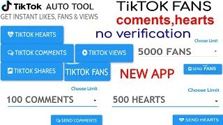 How to get active and real tik tok fans hearts for free videos