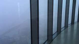 В Польше -  Sky Tower. На высоте 220 метров над Вроцлавом. Туман.