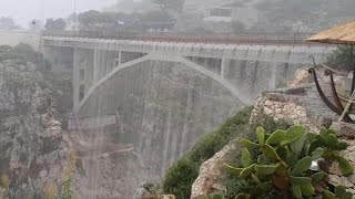 Watch: Heavy rainfall turns bridge into spectacular waterfall in Southern Italy