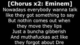Dr Dre - Forgot About Dre ft. Eminem Lyrics [HQ audio & HD 1080p]