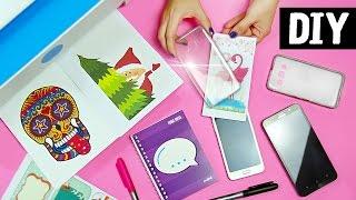 DIY - Dicas Incríveis para Decorar com Imagens 😍📚 Capinha de Celular + Caderno + Marcador de Páginas