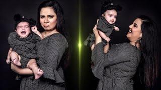 😍Neha Menon & Sister Saahithi's Cutest Photoshoot | Bhakyalakshmi Serial | Farina |Venba |Baby Girl