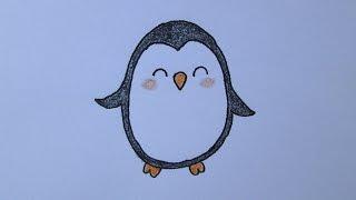 Como desenhar um pinguim
