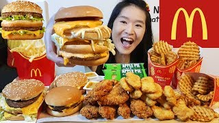 McDonald's McG*ANGBANG Burger!! Big Mac, Chicken McNuggets, McWings, Apple Pie   Eating Show Mukbang