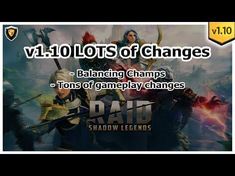 RAID Shadow Legends | Patch 1.10 Released!  Balancing Champs / Gameplay Changes