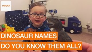 Adorable Two-Year-Old Boy Knows Every Dinosaur Name (Storyful, Kids)