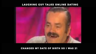 Laughing Guy Talks Online Dating