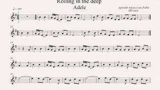 ROLLING IN THE DEEP: Bb inst (clarinete, trompeta, saxo soprano/tenor) (partitura con playback)