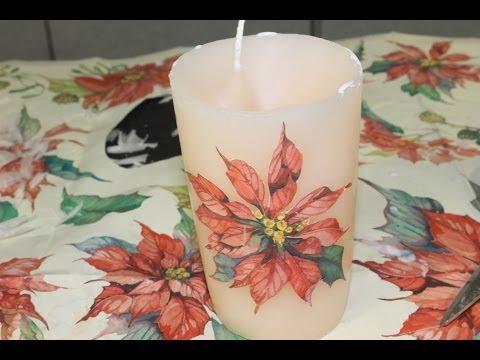 Come decorare candele col decoupage fai da te mania for Decorare candele