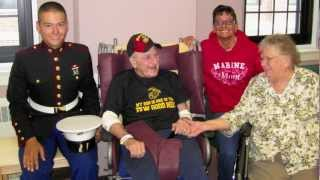 "Hauer 111013 - Joe Hauer & ""Pops"" at VA Clinic in St. Cloud"