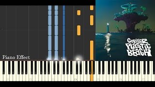 Gorillaz - On Melancholy Hill (Piano Tutorial Synthesia)