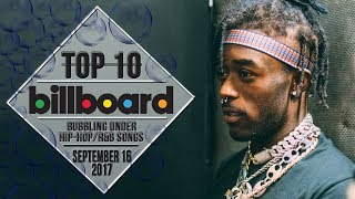 Top 10 • US Bubbling Under Hip-Hop/R&B Songs • September 16, 2017 | Billboard-Charts
