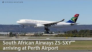 ANOTHER SAA A330 VISIT 😵 South African Airways (ZS-SXY) arriving at Perth Airport.