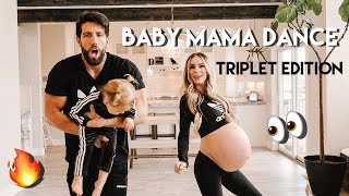 TRIPLET BABY MAMA DANCE!!! GOING INTO LABOR WITH TRIPLETS. 32 WEEKS PREGNANT!