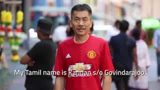 Chinese Man speaks Tamil. Kannan s/o Govindarajoo aka Harry Koh Eng Whatt