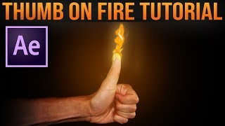 How to Create FIRE HANDS Effect│After Effects VFX Tutorial