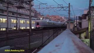 Japan Railway - Switching JR E351 Called Super Azusa Train in Matsumoto Station