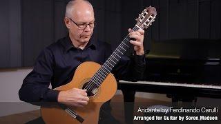 Andante (Ferdinando Carulli) - Danish Guitar Performance - Soren Madsen