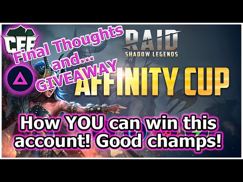 RAID Shadow Legends | Affinity Cup Wrap-Up / ACCOUNT GIVEAWAY!
