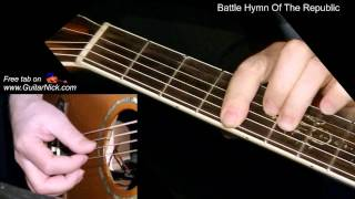 BATTLE HYMN OF THE REPUBLIC: Fingerstyle Guitar Lesson + TAB by GuitarNick