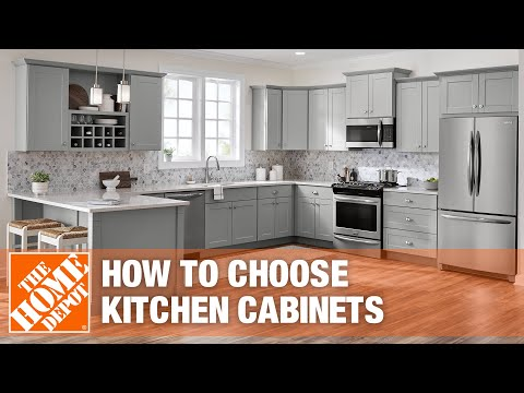 A video outlining considerations when choosing kitchen cabinets.