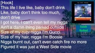 Isaiah Rashad - AA - *Semi-Wrong* Lyrics [HD&HQ]