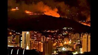 Ardió Cristo Rey: así fue el gigantesco incendio que afectó este emblemático sitio turístico de Cali