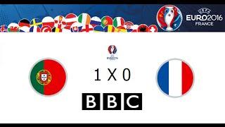 PORTUGAL 0 X 0 FRANCE (1X0 AET) // EUROPEAN CHAMPIONSHIP 2016 - BBC