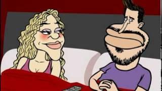 Marcatoons: Loca, loca - Shakira y Piqué Waka waka