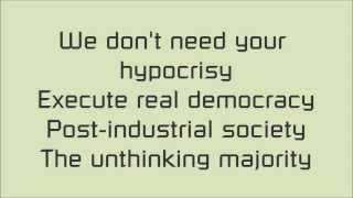 The Unthinking Majority - Serj Tankian lyrics