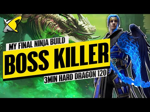 "My NINJA Ultimate BOSS KILLER Build | ""3 Min Accessible"" Hard Dragon 120 Team | RAID: Shadow Legends"