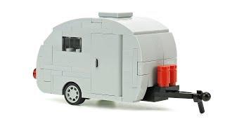 LEGO Vintage Camper Trailer. MOC Building Instructions