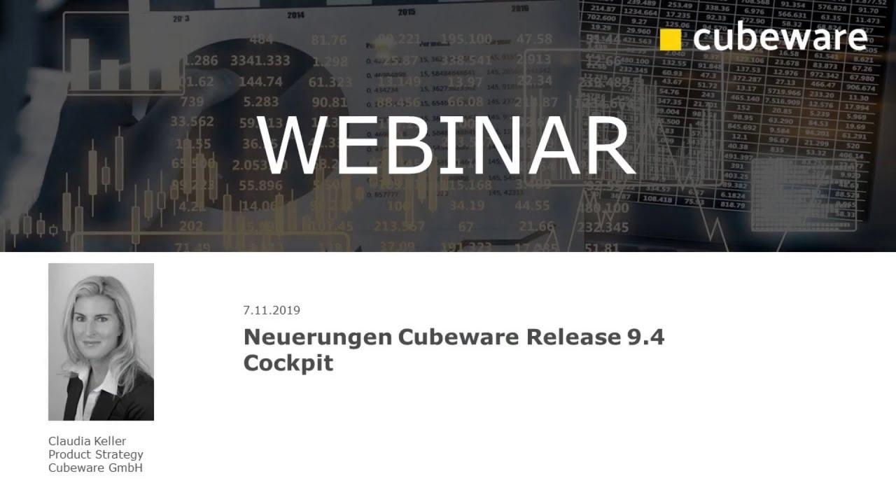 Neuerungen Cubeware Release 9.4: Cockpit