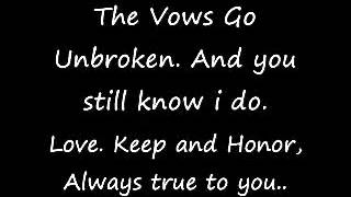 ▶ Kenny Rogers  The Vows Go Unbroken Always True To You  With Lyrics