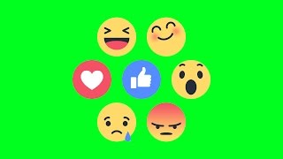 Green Screen Footage Facebook Reactions Full Functional Animation