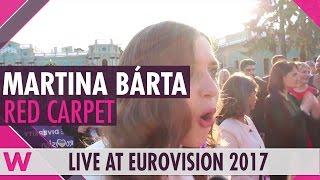 Martina Barta LOVES Salvador Sobral (Eurovision 2017 red carpet)