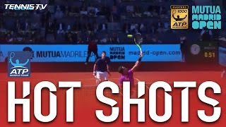 Nadal Nails No Look Overhead Hot Shot v Djokovic In Madrid 2017