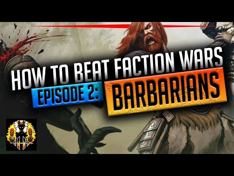 RAID: Shadow Legends | HOW TO BEAT FACTION WARS, EPISODE 2: BARBARIANS!