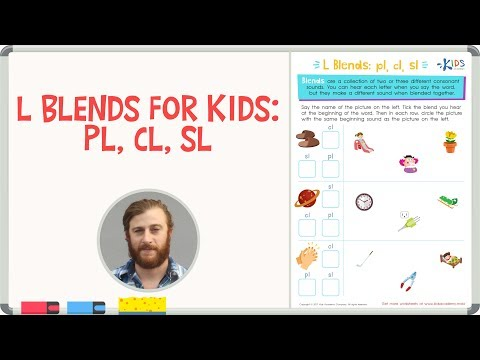 L Blends for Kids: PL, CL, SL - 1st Grade | Kids Academy