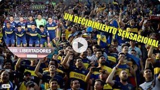 Boca tuvo un recibimiento en Asunción, como en casa