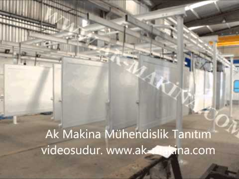 www.ak-makina.com toz boya yaş boya tesisleri elektrostatik toz boya