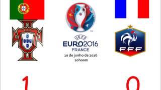 Portugal 1-0 França - Relato do golo de Éder RR // CAMPEÕES EUROPEUS ALLEZ ALLEZ :D