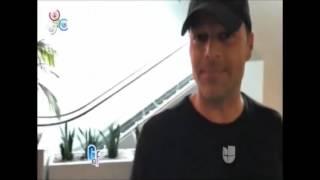 Ricky Martin y Jwan Yosef saliendo del gym en Los Ángeles