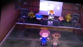 Animal Crossing New Leaf 3DS - Club LOL with KK learning to dance