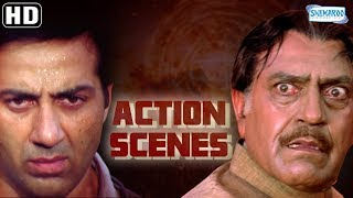 Action Scenes from Salaakhen (1998)(HD) Sunny Deol - Amrisah Puri - Anupam Kher - Hit Hindi Movie width=